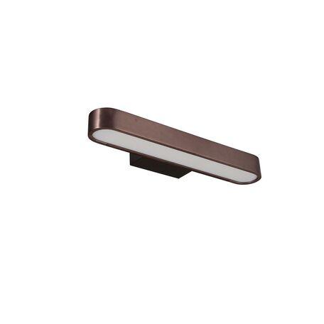 Настенный светодиодный светильник Favourite Officium 2120-2W, LED 10W 3000K, коричневый, металл, пластик