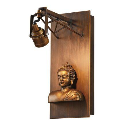 Настенный светодиодный светильник с регулировкой направления света Favourite Exposition 2077-1W, LED 3,6W 3000K, коричневый, гипс, металл