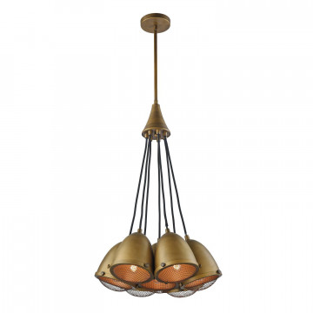Подвесная люстра Favourite Pignatta 2088-7P, 7xE27x60W, коричневый, металл