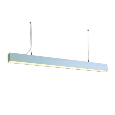 Подвесной светодиодный светильник Favourite Officium 2071-24P, LED 24W 4000K, серый, серебро, металл, металл с пластиком, пластик