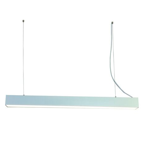 Подвесной светодиодный светильник Favourite Officium 2072-48P, LED 48W 4000K, серебро, металл, металл с пластиком, пластик