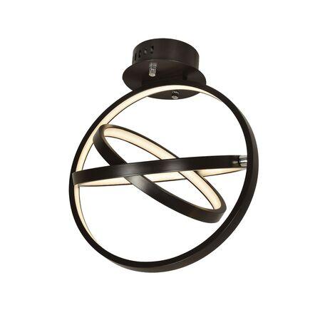 Потолочный светодиодный светильник Favourite Teaser 2119-3U, LED 20W 3000K, коричневый, металл, металл с пластиком, пластик