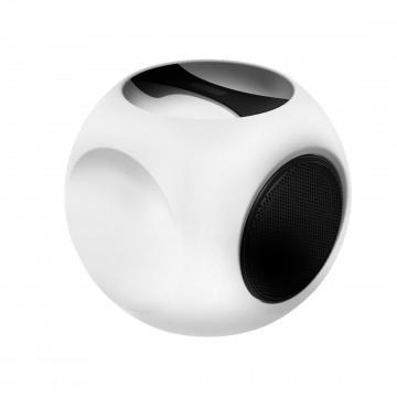 Музыкальный садовый светильник с пультом ДУ Favourite Speaker 2127-1T, IP44 RGB, белый, черный, пластик