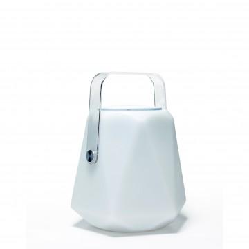 Музыкальный садовая настольная светодиодная лампа с пультом ДУ Favourite Speaker 2126-1T, IP44, LED 3W RGB, прозрачный, хром, белый, пластик