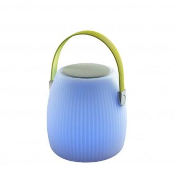 Музыкальный садовая настольная светодиодная лампа с пультом ДУ Favourite Speaker 2128-1T, IP44, LED 3W RGB, зеленый, хром, белый, пластик