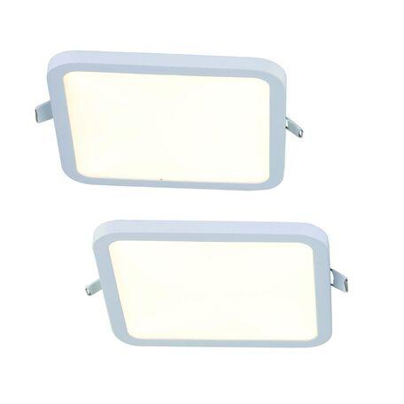Встраиваемая светодиодная панель Favourite FlashLED 2068-2C, IP21, LED 12W 4000K, белый, металл с пластиком, пластик