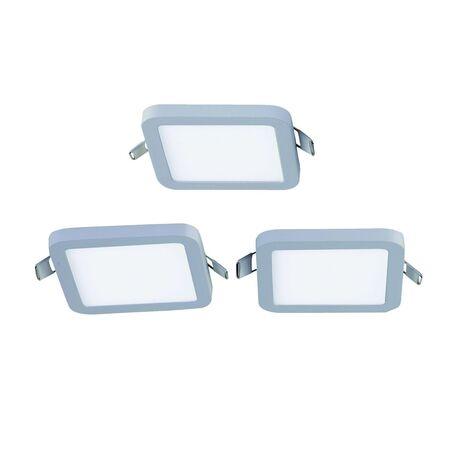 Встраиваемая светодиодная панель Favourite FlashLED 2068-3C, IP21, LED 6W 4000K, белый, металл с пластиком, пластик