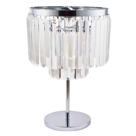 Настольная лампа Divinare Nova 3001/02 TL-4, 4xE14x40W, хром, прозрачный, металл, хрусталь