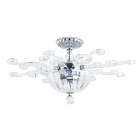 Потолочная люстра Divinare Albedo 8819/02 PL-3, 3xE14x40W, прозрачный, хром, хрусталь