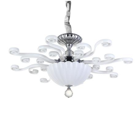 Потолочная люстра Divinare Albedo 8819/03 PL-3, 3xE14x40W, белый с хромом, белый, хрусталь