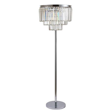 Торшер Divinare Nova 3001/02 PN-6, 6xE14x40W, хром, прозрачный, металл, хрусталь