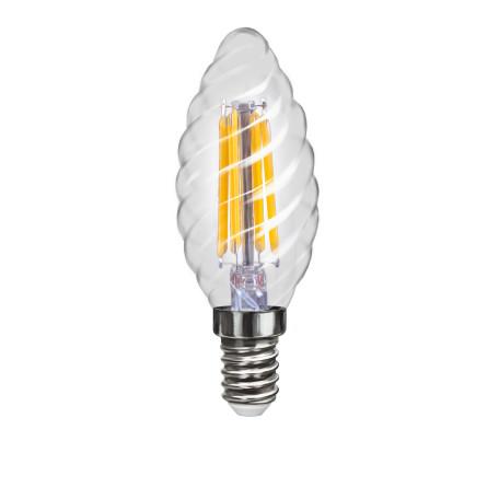 Филаментная светодиодная лампа Voltega VG1-CC1E14cold4W-F 4670 витая свеча E14 4W, 4000K (дневной), гарантия 3 года