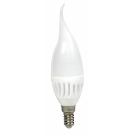 Светодиодная лампа Voltega Ceramics 4691 свеча на ветру E14 6W, 4000K 220V, гарантия 3 года