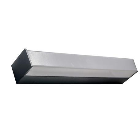Настенный светодиодный светильник Azzardo Peter AZ2616, IP44, LED 18W 3000K 1315lm, черный, белый, металл, пластик