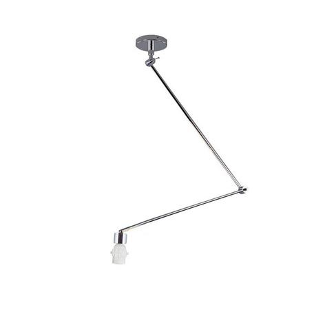 Основание потолочного светильника на складной штанге Azzardo Adam AZ1841, 1xE27x60W, хром, металл