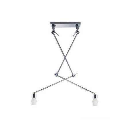 Основание потолочного светильника на складной штанге Azzardo Adam AZ1842, 2xE27x60W, хром, металл