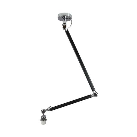 Основание потолочного светильника на складной штанге Azzardo Zyta AZ1845, 1xE27x60W, черный, металл