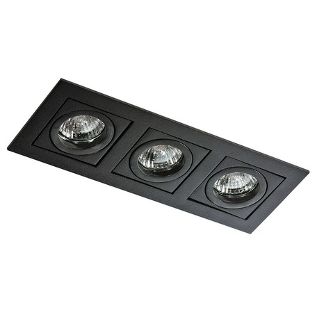 Встраиваемый светильник Azzardo Paco AZ0803, 3xGU10x50W, черный, металл