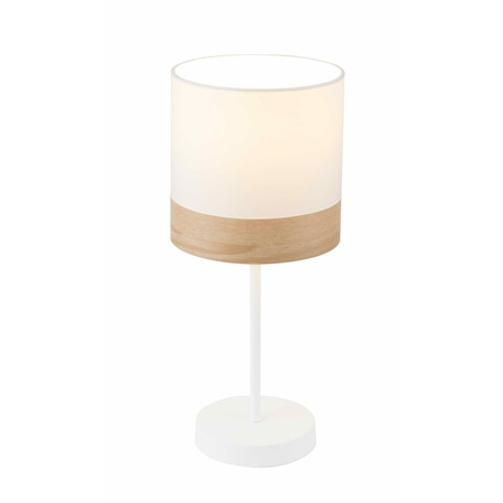 Настольная лампа Toplight Mabel TL1121-1T, 1xE14x40W, белый, бежевый, металл, текстиль с пластиком