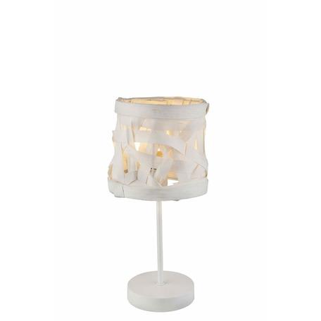 Настольная лампа Toplight Patricia TL1122-1T, 1xE14x40W, белый, металл, бумага/картон