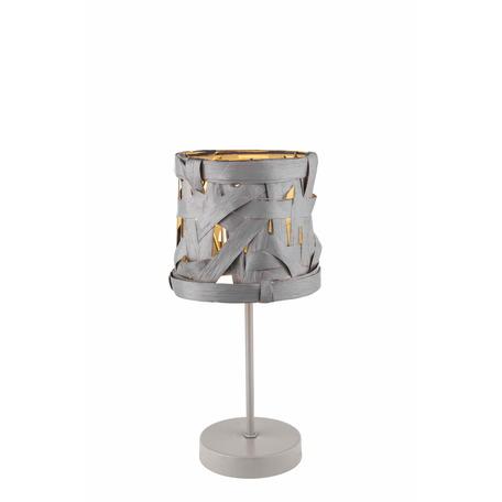 Настольная лампа Toplight Patricia TL1123-1T, 1xE14x40W, серый, металл, бумага/картон