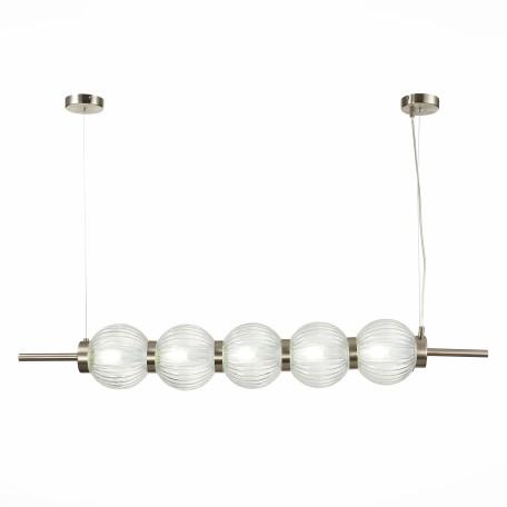 Подвесной светильник ST Luce Marena SL1155.103.05, 5xE14x40W, никель, прозрачный, металл, стекло