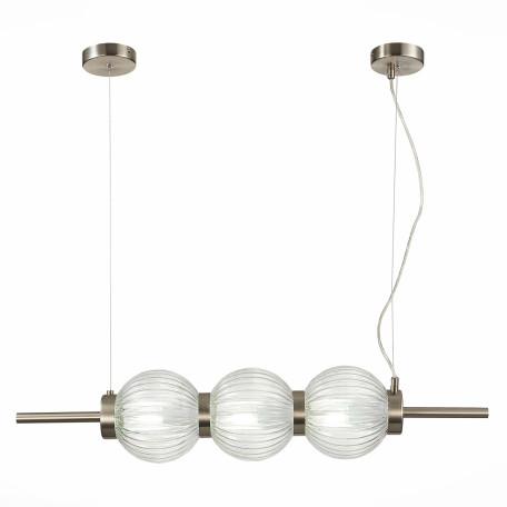 Подвесной светильник ST Luce Marena SL1155.113.03, 3xE14x40W, никель, прозрачный, металл, стекло