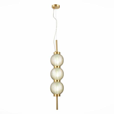 Подвесной светильник ST Luce Marena SL1155.303.03, 3xE14x40W, матовое золото, янтарь, металл, стекло