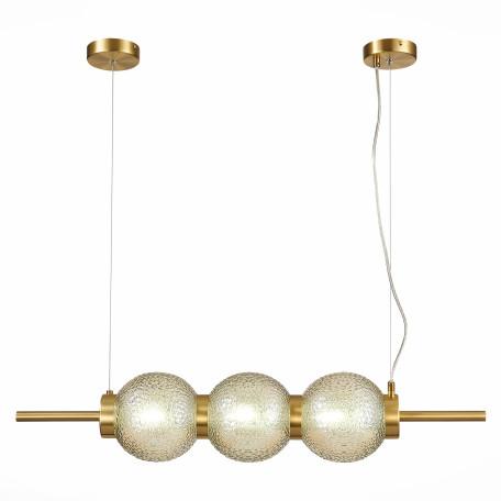 Подвесной светильник ST Luce Marena SL1155.313.03, 3xE14x40W, матовое золото, янтарь, металл, стекло