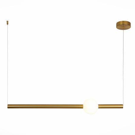 Подвесной светодиодный светильник ST Luce Angurra SL1222.223.01, LED 18W 4000K 1600lm, матовое золото, белый, металл, стекло