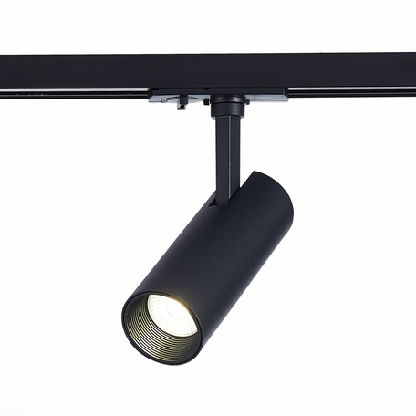 Светодиодный светильник с регулировкой направления света для шинной системы ST Luce Mono ST350.436.10.24, IP22, LED 10W 3000K 900lm, черный, металл