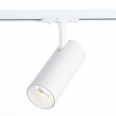 Светодиодный светильник с регулировкой направления света для шинной системы ST Luce Mono ST350.546.20.24, IP22, LED 20W 4000K 1800lm, белый, металл