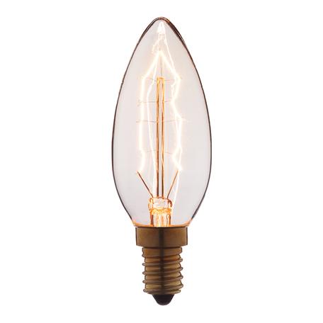 Лампа накаливания Loft It Edison Bulb 3540-G свеча E14 40W 220V, гарантия нет гарантии