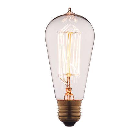 Лампа накаливания Loft It Edison Bulb 6460-SC прямосторонняя груша E27 60W 220V, гарантия нет гарантии
