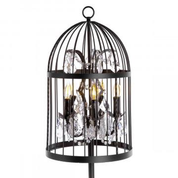 Торшер Loft It Vintage Birdcage LOFT1891F, 5xE14x40W, черный, прозрачный, металл, хрусталь - миниатюра 2