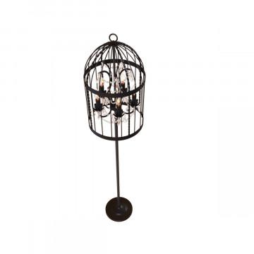 Торшер Loft It Vintage Birdcage LOFT1891F, 5xE14x40W, черный, прозрачный, металл, хрусталь - миниатюра 3