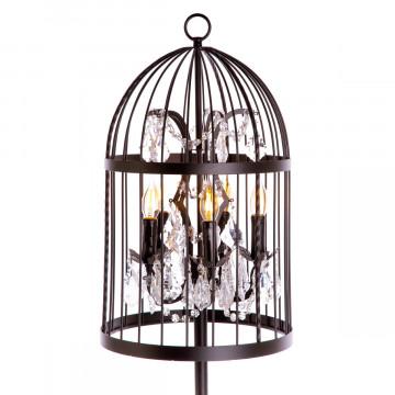Торшер Loft It Vintage Birdcage LOFT1891F, 5xE14x40W, черный, прозрачный, металл, хрусталь - миниатюра 4