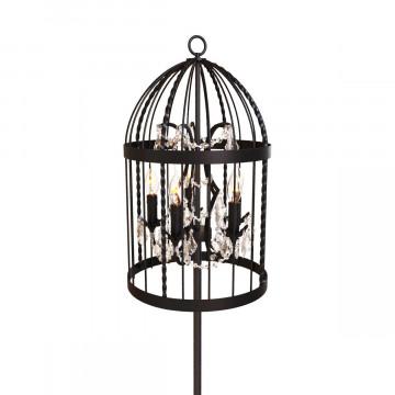 Торшер Loft It Vintage Birdcage LOFT1891F, 5xE14x40W, черный, прозрачный, металл, хрусталь - миниатюра 5