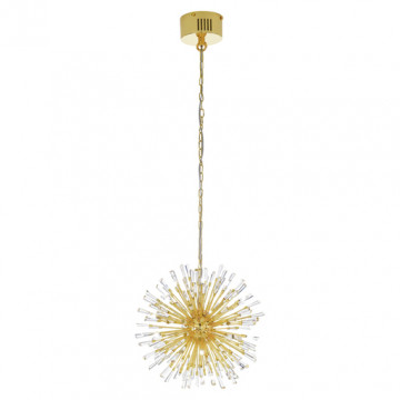 Подвесная люстра Eglo Vivaldo 31461, 18xG4x10W, золото, прозрачный, металл, хрусталь