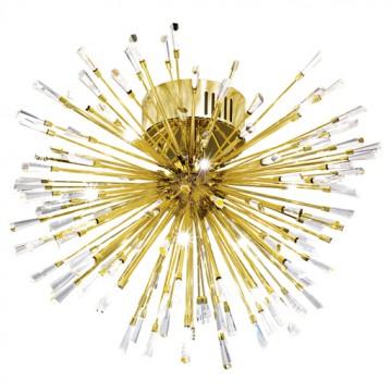 Подвесная люстра Eglo Vivaldo 31513, 19xG4x10W, золото, прозрачный, металл, хрусталь