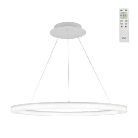 Подвесной светодиодный светильник с пультом ДУ Citilux Электрон CL71064RS 3000-4200K, белый, металл, пластик