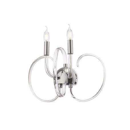 Бра Maytoni Atlanta MOD051WL-02TR, 2xE14x40W, прозрачный, хром, стекло