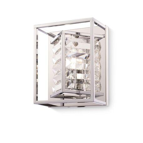 Бра Maytoni Tening MOD060WL-01CH, 1xE14x60W, хром, прозрачный, металл, металл со стеклом