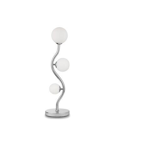 Настольная лампа Maytoni Uva MOD059TL-03CH, 3xG9x28W, хром, белый, металл, стекло