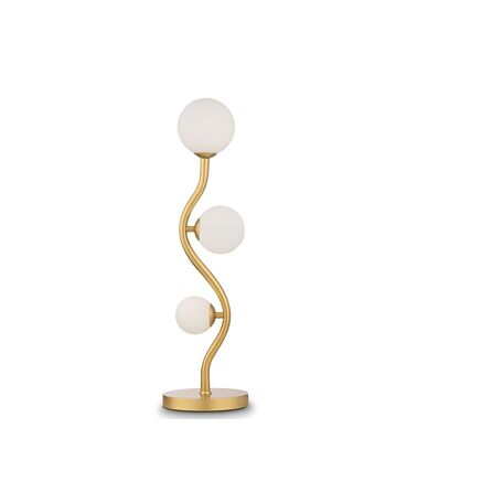 Настольная лампа Maytoni Uva MOD059TL-03G, 3xG9x28W, матовое золото, белый, металл, стекло