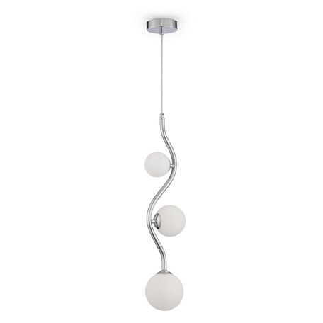 Подвесной светильник Maytoni Uva MOD059PL-03CH, 3xG9x28W, хром, белый, металл, стекло