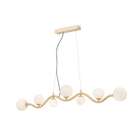 Подвесной светильник Maytoni Uva MOD059PL-07G, 7xG9x28W, матовое золото, белый, металл, стекло