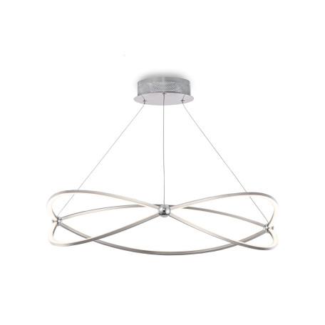 Подвесной светодиодный светильник Maytoni Weave MOD062PL-L56CH3K, LED 56W 3000K 3400lm CRI80, никель, металл, металл с пластиком