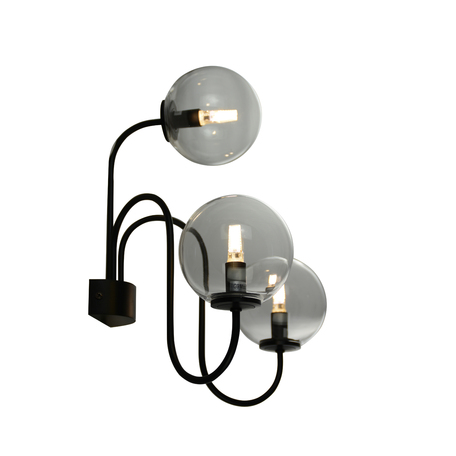 Бра ST Luce Fiamo SL423.401.03, 3xE14x40W, черный, прозрачный, металл, стекло