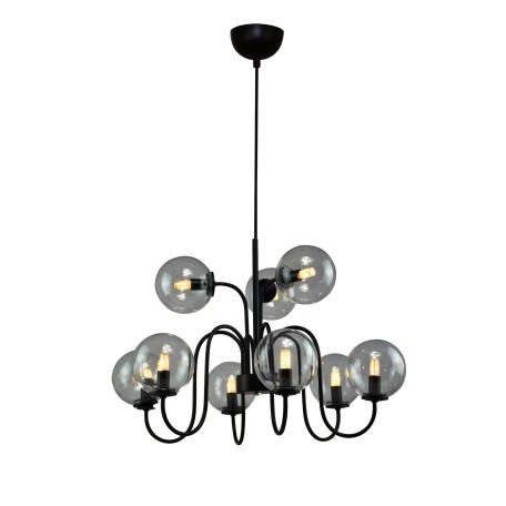 Подвесная люстра ST Luce Fiamo SL423.403.09, 9xE14x40W, черный, прозрачный, металл, стекло